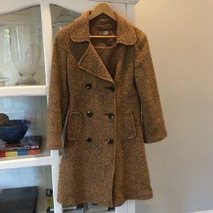 ZARA Girl's WOOL COAT, Size 12-13 (large), brown